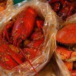 crabs in bag